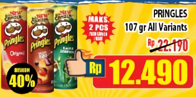 Promo Harga PRINGLES Potato Crisps All Variants 107 gr - Hypermart