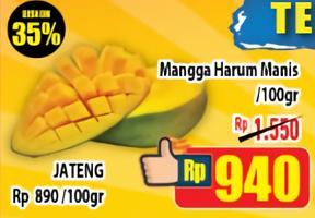 Promo Harga Mangga Harum Manis per 100 gr - Hypermart