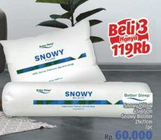Promo Harga BETTER SLEEP Bantal/ Guling Snowy  - LotteMart
