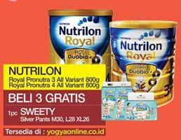 Promo Harga NUTRILON NUTRILON Royal 3/4 Susu Pertumbuhan  - Yogya