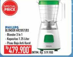 Promo Harga PHILIPS PHILIPS Blender HR2057/HR2003  - Hypermart
