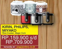 Promo Harga KIRIN KIRIN / PHILIPS / MIYAKO Rice Cooker  - Yogya