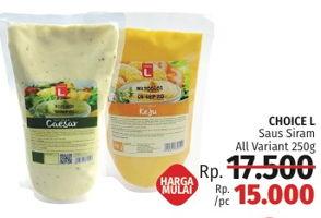 Promo Harga CHOICE L Saus Siram Caesar, Siram Mayonaise Keju 250 gr - LotteMart