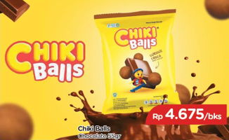 Promo Harga CHIKI BALLS Chicken Snack Coklat  - TIP TOP