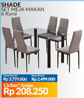Promo Harga COURTS Shade Meja Makan Set  - Courts