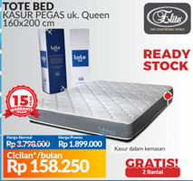 Promo Harga ELITE Tote Bed Mattress 160x200cm  - Courts