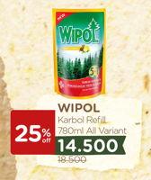 Promo Harga WIPOL Karbol Wangi All Variants 780 ml - Watsons