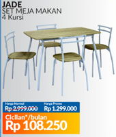 Promo Harga COURTS Jade Dining Set  - Courts