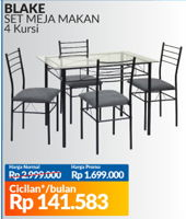 Promo Harga COURTS Blake Dining Set  - Courts