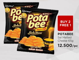 Promo Harga POTABEE Snack Potato Chips Melted Cheese 65 gr - Watsons