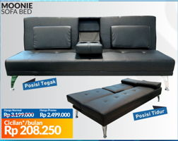 Promo Harga COURTS Moonie Sofa Bed  - Courts
