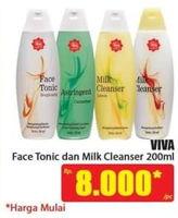 Promo Harga VIVA Milk Cleanser / Face Tonic 200 ml - Hari Hari