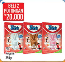 Promo Harga ZEE Susu Bubuk per 2 box 350 gr - Hypermart