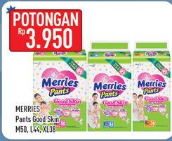 Promo Harga MERRIES Pants Good Skin M50, L44, XL38  - Hypermart