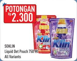 Promo Harga SO KLIN Liquid Detergent All Variants 750 ml - Hypermart