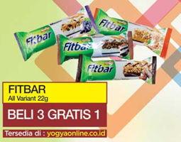 FITBAR Makanan Ringan Sehat All Variants  Beli 3 Gratis 1 Tersedia di: yogyaonline.co.id, Toserba Yogya & Griya
