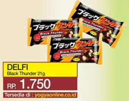 DELFI Black Thunder 21 gr Harga Promo Rp1.750, Tersedia di: yogyaonline.co.id, Toserba Yogya & Griya