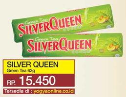 Promo Harga SILVER QUEEN Chocolate Green Tea 62 gr - Yogya