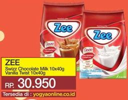 Promo Harga ZEE Susu Bubuk Swizz Chocolate, Vanilla Twist per 10 sachet 40 gr - Yogya