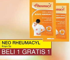 NEO RHEUMACYL Muscle Joint Koyo Hangat 5 pcs Beli 1 Gratis 1, Toserba Yogya & Griya