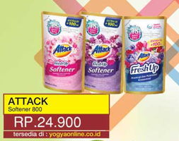 Promo Harga ATTACK Fresh Up Softener 800 ml - Yogya