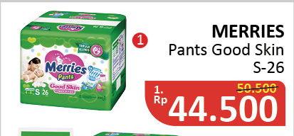 MERRIES Pants Good Skin S26  Diskon 12%, Harga Promo Rp44.500, Harga Normal Rp50.500