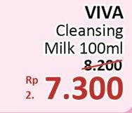 VIVA Milk Cleanser 100 ml Diskon 11%, Harga Promo Rp7.300, Harga Normal Rp8.200