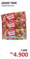 Promo Harga GOOD TIME Cookies Chocochips All Variants 72 gr - Alfamidi