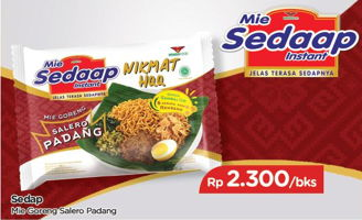 Promo Harga SEDAAP Mie Goreng Salero Padang  - TIP TOP