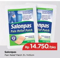 Promo Harga SALONPAS Pain Relief Patch 3 pcs - TIP TOP