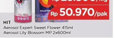 Promo Harga HIT Aerosol Lily Blossom per 2 kaleng 600 ml - TIP TOP