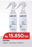 Promo Harga SANITER Disinfectant Spray 200 ml - TIP TOP