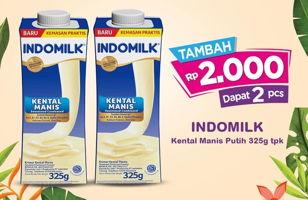 Promo Harga INDOMILK Susu Kental Manis Plain 325 gr - Indomaret