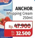 Promo Harga ANCHOR Whipping Cream 250 ml - Lotte Grosir