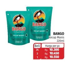 Promo Harga BANGO Kecap Manis 220 ml - Lotte Grosir