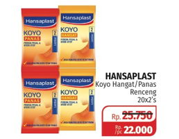 Promo Harga HANSAPLAST Koyo Hangat, Panas per 20 pouch 2 pcs - Lotte Grosir