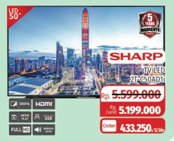 "Promo Harga SHARP 2T-C50AD1i Full-HD 50""  - Lotte Grosir"