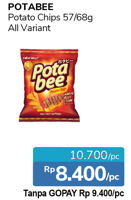 Promo Harga POTABEE Potato Chips 68/57gr  - Alfamidi