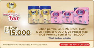 Promo Harga S26 S26 Procal Gold/Promise Gold/Procal/Promise Susu Pertumbuhan  - Indomaret