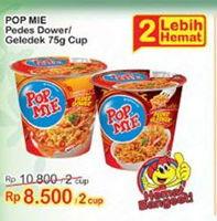 Promo Harga INDOMIE POP MIE Instan Kuah Pedes Dower Ayam, Goreng Pedes Gledeek Ayam per 2 pcs 75 gr - Indomaret