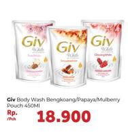Promo Harga GIV Body Wash Bengkoang Yoghurt, Papaya Honey, Mulbery Colagen 450 ml - Carrefour