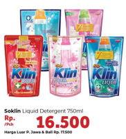 Promo Harga SO KLIN Liquid Detergent 750 ml - Carrefour