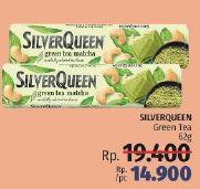 Promo Harga SILVER QUEEN Chocolate Green Tea 62 gr - LotteMart