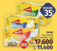 Promo Harga EMINA Cheddar Cheese All Variants 165 gr - LotteMart
