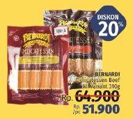 Promo Harga BERNARDI Delicatessen Beef Bratwurst All Variants 310 gr - LotteMart