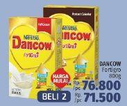 Promo Harga DANCOW FortiGro Susu Bubuk per 2 box 800 gr - LotteMart