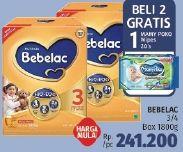 Promo Harga BEBELAC BEBELAC 3/4 Susu Pertumbuhan 1800gr  - LotteMart