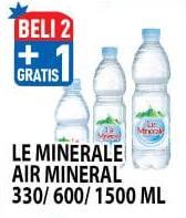 LE MINERALE LE MINERALE Air Mineral 330ml/600ml/1500ml  Beli 2 Gratis 1