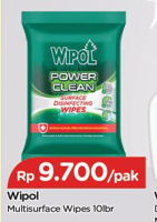 Promo Harga WIPOL Surface Disinfectant Wipes 10 pcs - TIP TOP