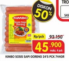 Promo Harga KIMBO Sosis Sapi Goreng 744 gr - Superindo